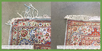 Rug Repair before after